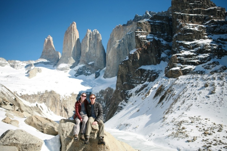 Kelly & Russ in Patagonia Torres del Paine